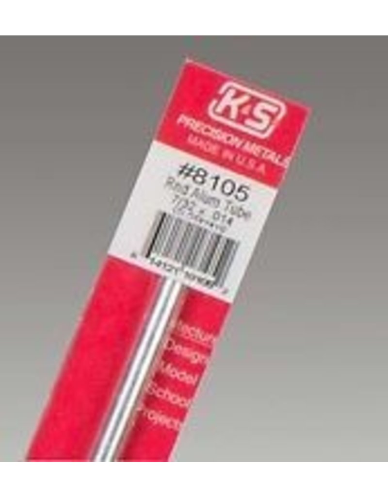 K & S Engineering Aluminum Tube 7/32''x.014''x12'' #8105