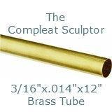 K & S Engineering Brass Tube 3/16''x.014''x12'' #8129