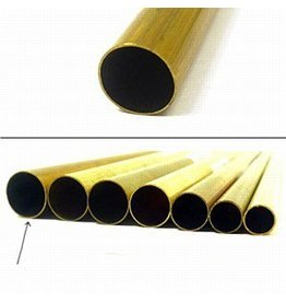 K & S Engineering Brass Tube 17/32''x.014''x12'' #8140