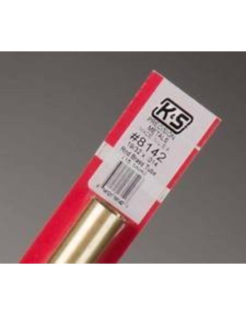 K & S Engineering Brass Tube 19/32''x.014''x12'' #8142