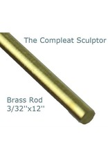 K & S Engineering Brass Rod 3/32''x12'' #8163