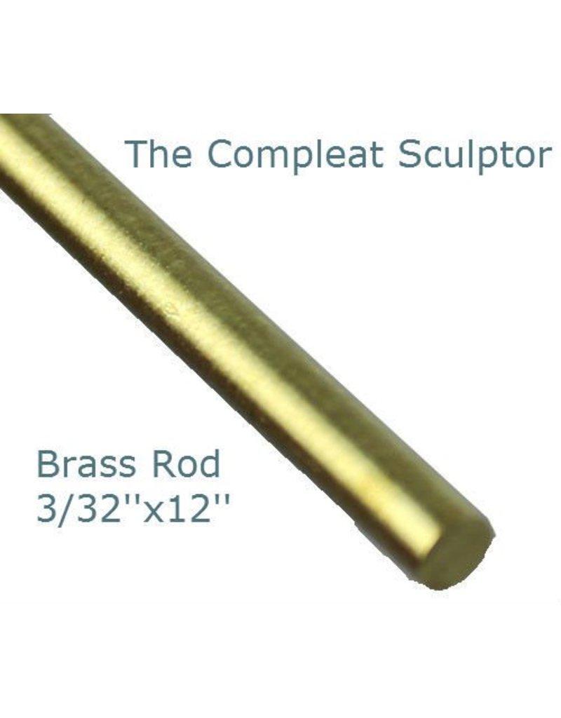 K & S Engineering Brass Rod 3/32''x12'' #8163