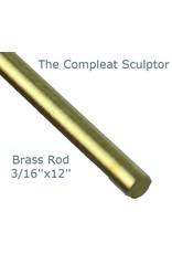 K & S Engineering Brass Rod 3/16''x12'' #8166