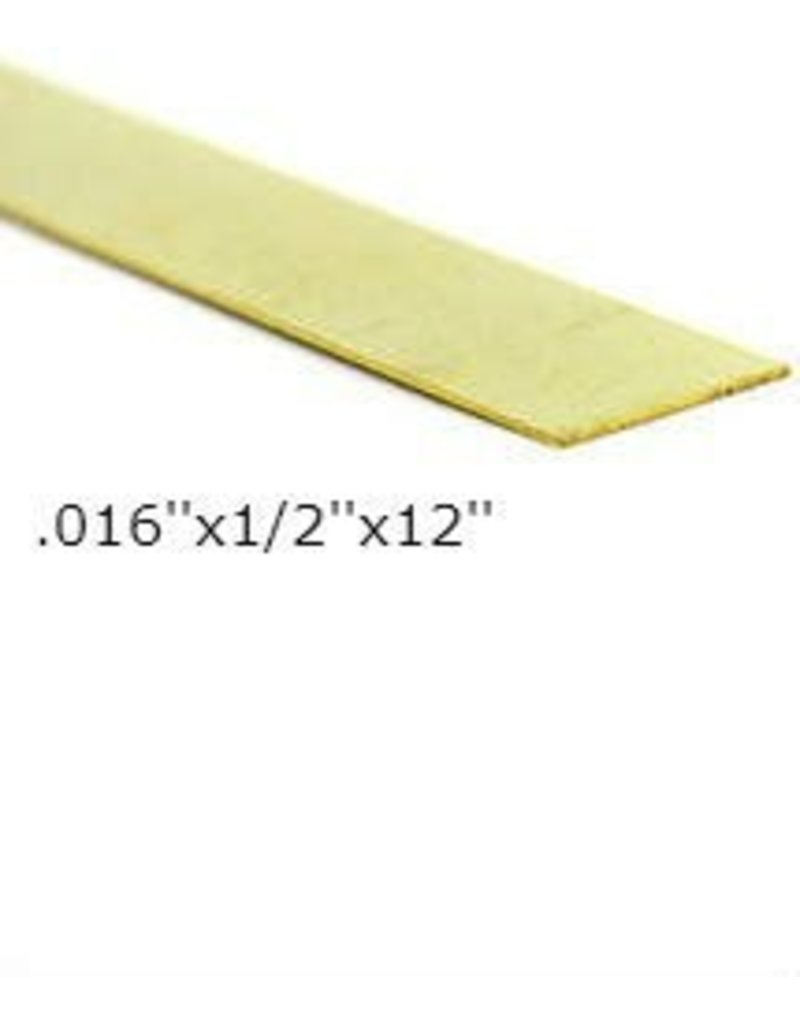 K & S Engineering Brass Strip .016''x1/2''x12'' #8231