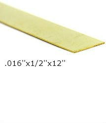 K & S Engineering Brass Strip .016''x1/2''x12'' #8231