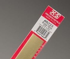 K & S Engineering Brass Strip .016''x3/4''x12'' #8233
