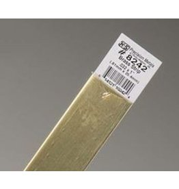K & S Engineering Brass Strip .032''x1''x12'' #8242