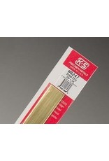 K & S Engineering Brass Strip .064''x3/4''x12'' #8247