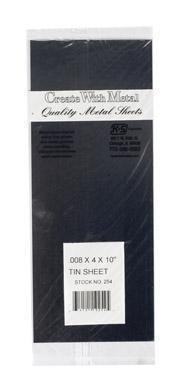K & S Engineering Tin Sheet .008''x4''x10'' #254