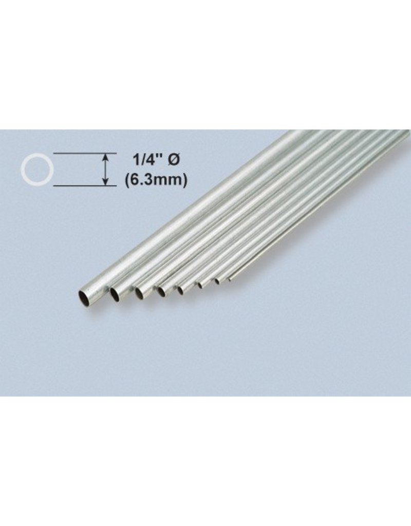 K & S Engineering Aluminum Tube 1/4''x.014''x36'' #1113