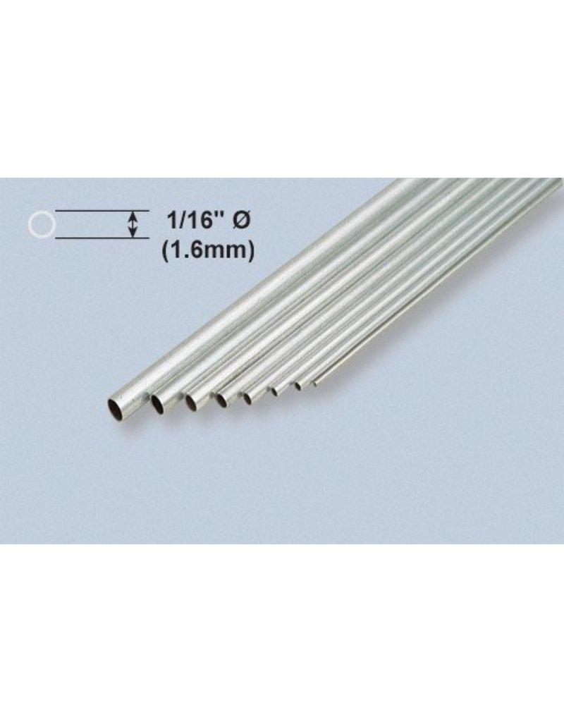 K & S Engineering Aluminum Tube 1/16''x.014''x12'' (3pcs) #8100