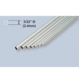 K & S Engineering Aluminum Tube 3/32''x.014''x12'' (3pcs) #8101