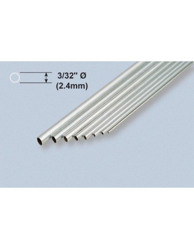 K & S Engineering Aluminum Tube 3/32''x.014''x12'' (3pcs) #8101