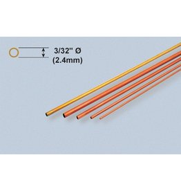 K & S Engineering Copper Tube 3/32''x.014''x12'' (3pcs) #8118