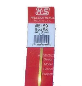 K & S Engineering Brass Rod .020''x12'' (5pcs) #8159