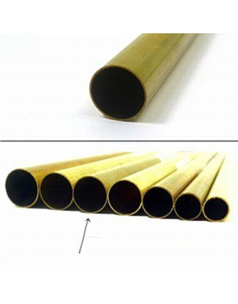 K & S Engineering Brass Tube 15/32''x.014''x36'' #9113