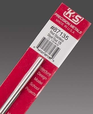 K & S Engineering Stainless Rod 1/8''x12'' #87135