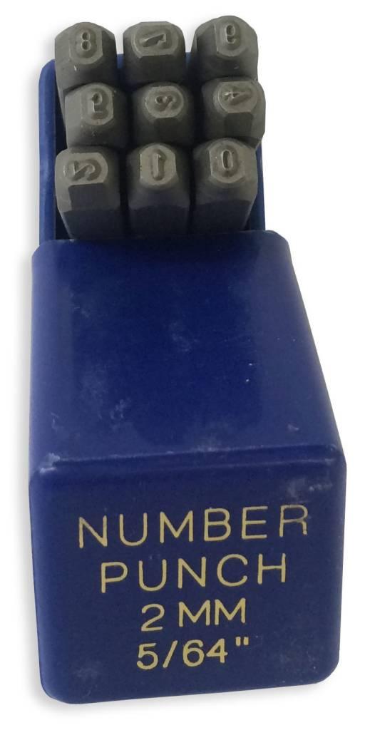 """2mm (5/64"""") Number Punch Set"""