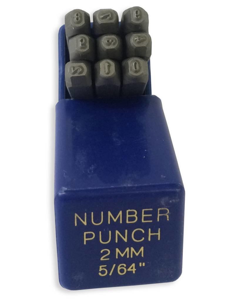 "Just Sculpt 2mm (5/64"") Number Punch Set"