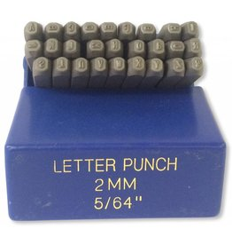 "Just Sculpt 2mm (5/64"") Letter Punch Set"