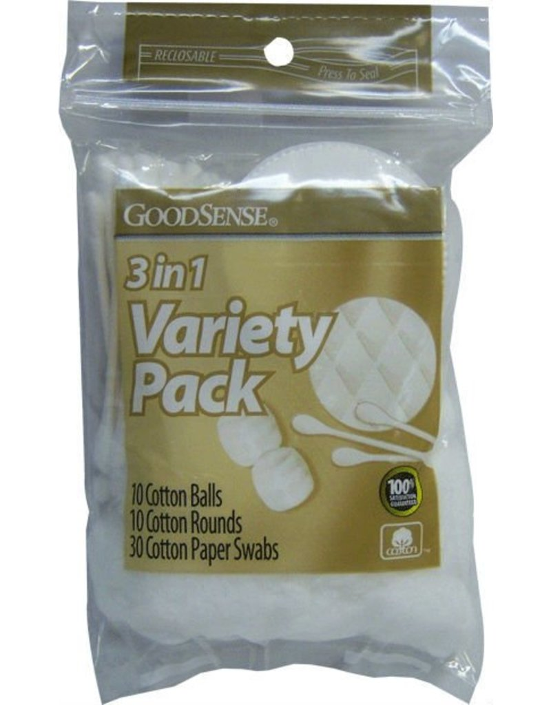 Cotton Swab Variety Pack 50pc