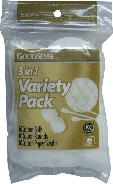 Cotton Swab Variety Pack 50pc