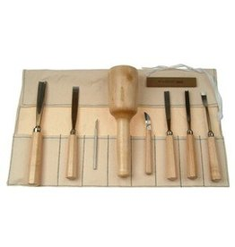 Sculpture House Basic Wood Carving Tool Set of 9 K5A