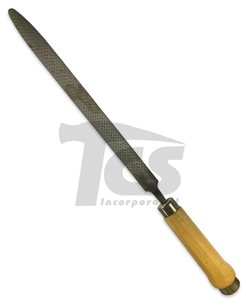 Sculpture House Steel Half Round Rasp With Handle 14''