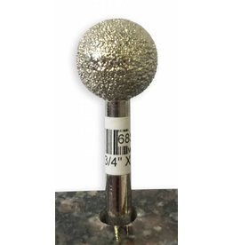 VTS Burr Sphere 3/4'' X 50Grit (1/4'' Shank)