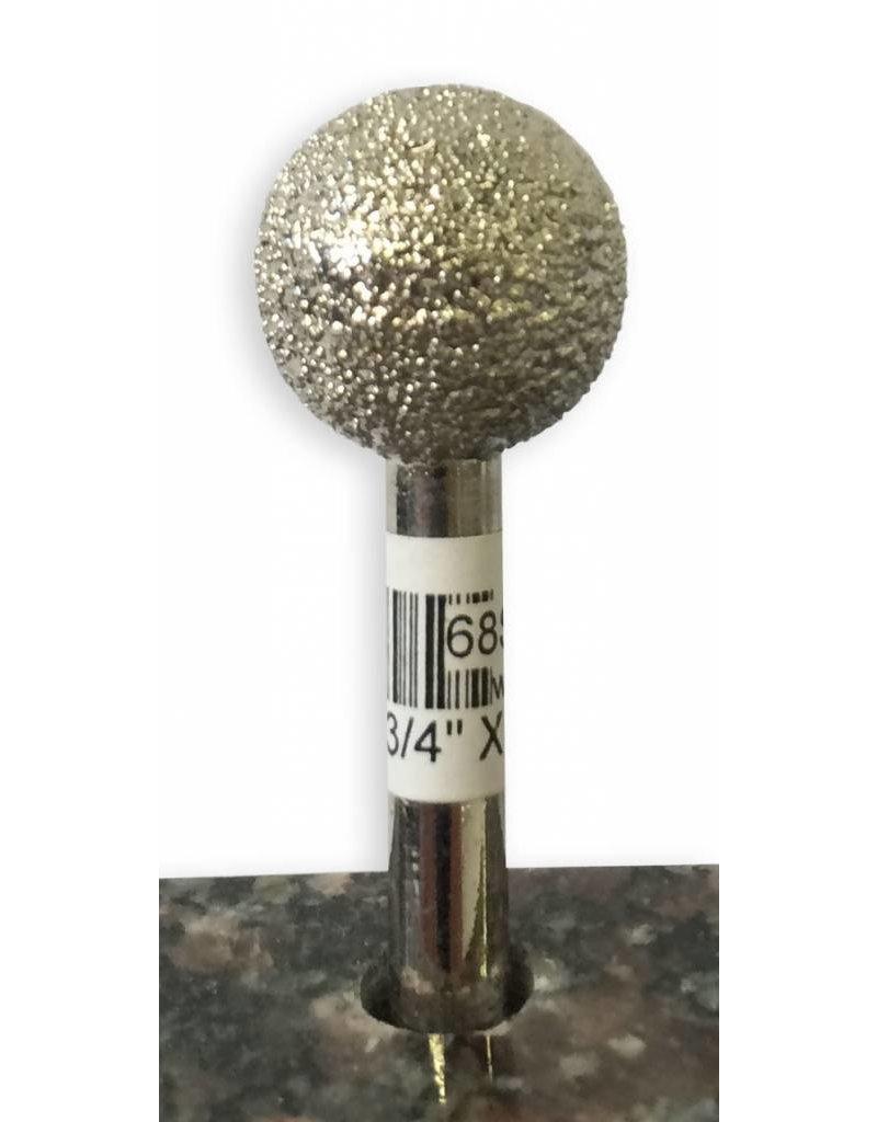 Just Sculpt VTS Burr Sphere 3/4'' X 50Grit (1/4'' Shank)