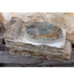 Stone Banded Onyx Carved 22''x12.5''x9'' 196lb Stone