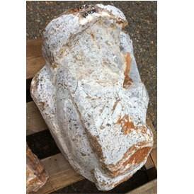Stone Butter Scotch Onyx Carved 18''x11''x8'' 100lb Stone