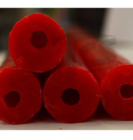 Paramelt Wax Sprue Red Round Cored 3/4'' (5 Pieces)