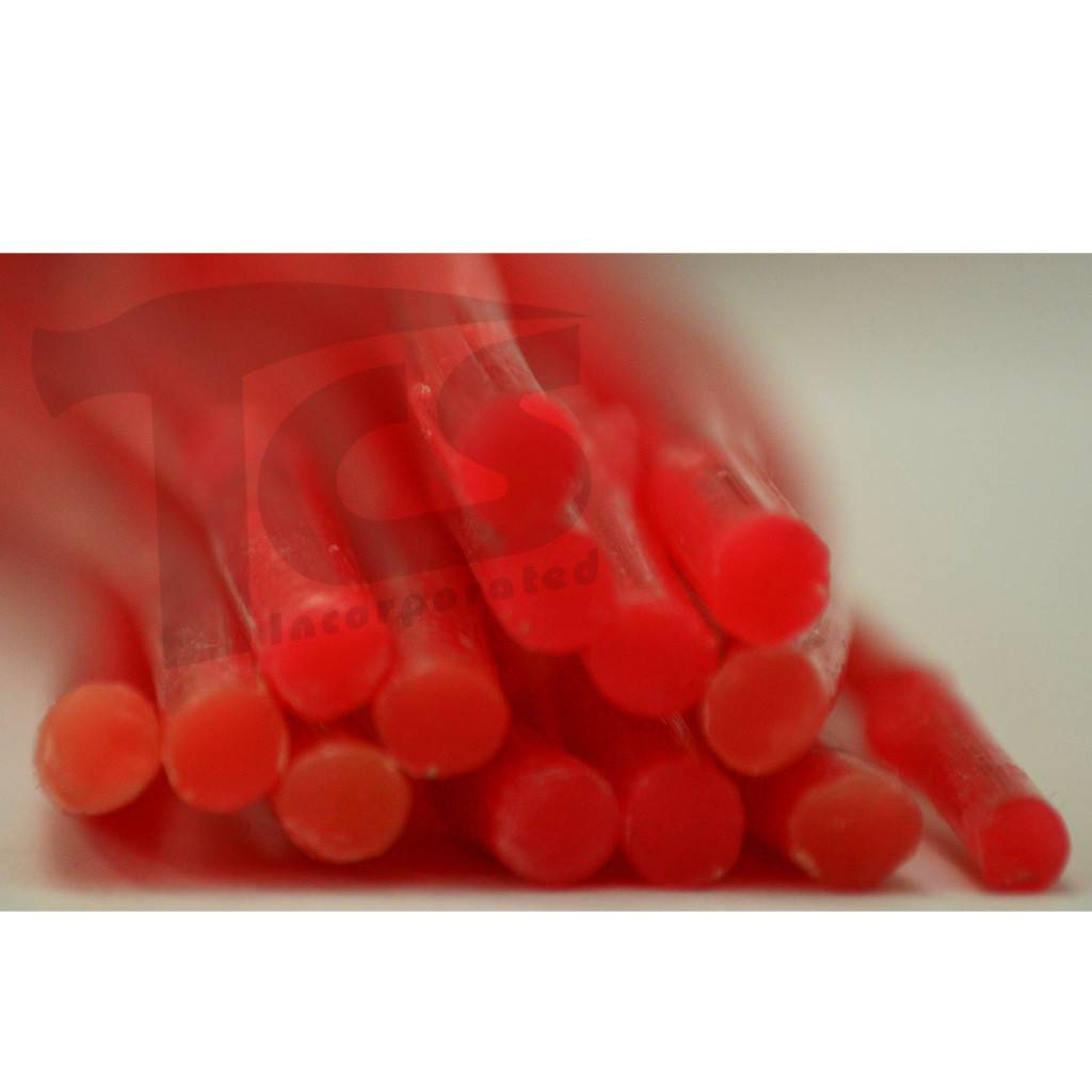 Paramelt Wax Sprue Red Round Solid 1/4'' (15 Pieces)