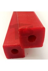 Paramelt Wax Sprue Red Square Cored 1-1/2'' (2 Pieces)