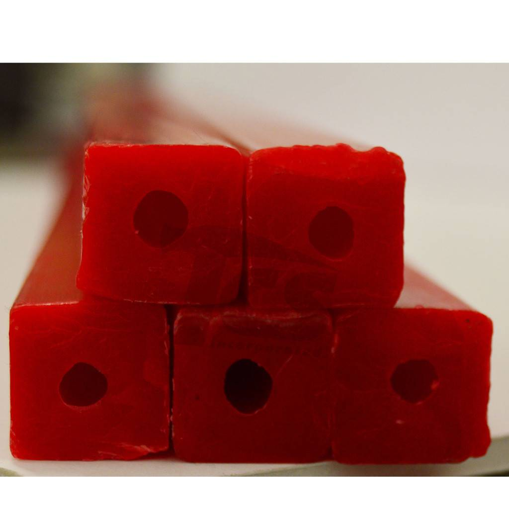 Paramelt Wax Sprue Red Square Cored 3/4'' (5 Pieces)