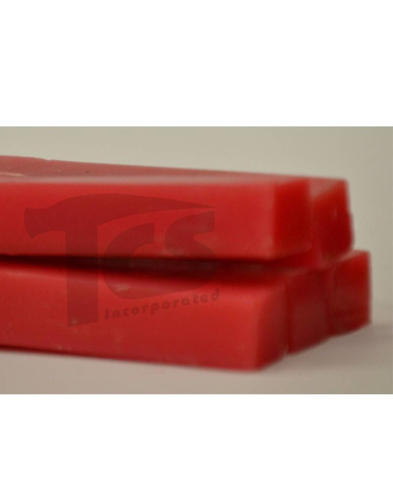 Paramelt Wax Sprue Red Square Solid 1/2'' (5 Pieces)