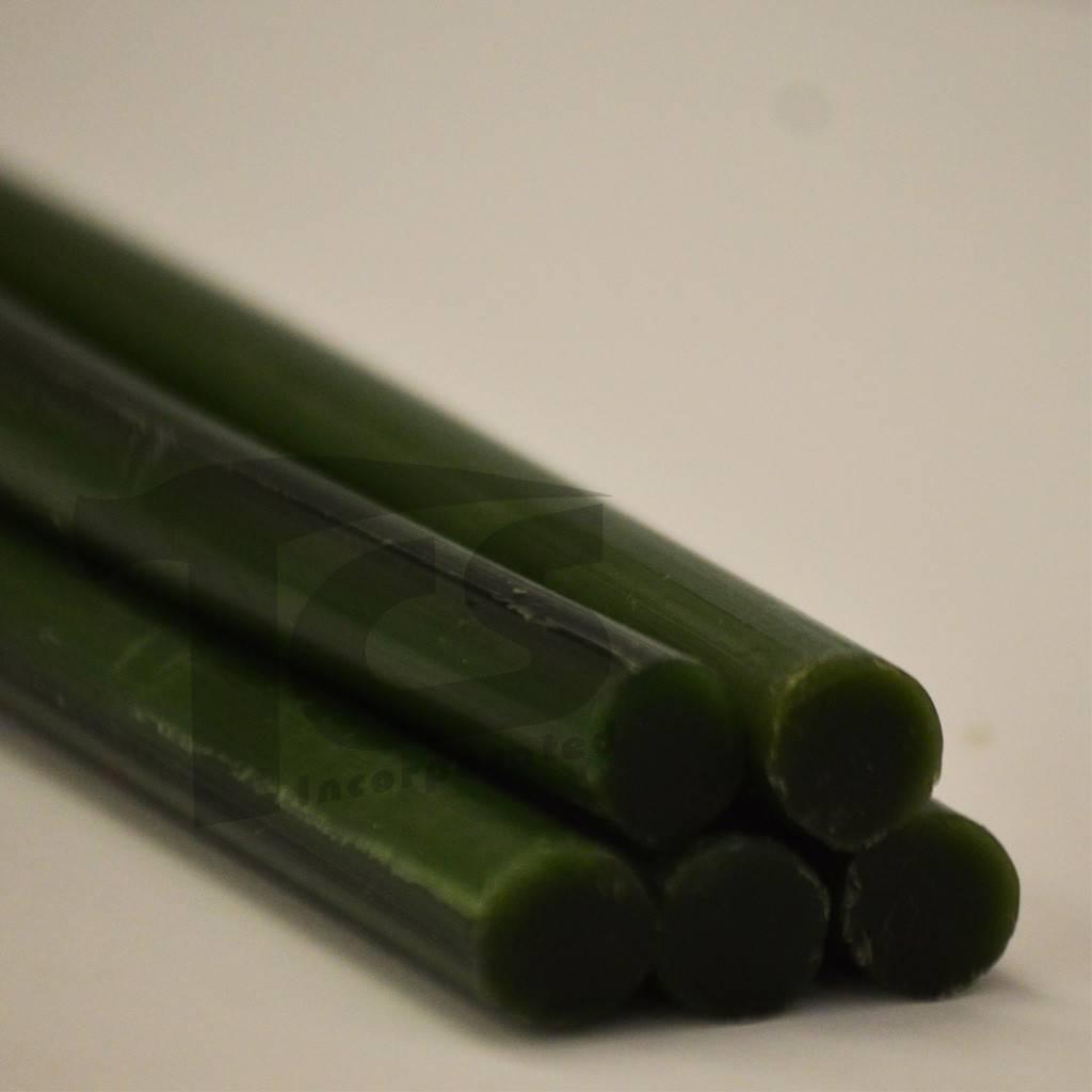 Paramelt Wax Sprue Green Round Solid 1/2'' (5 Pieces)