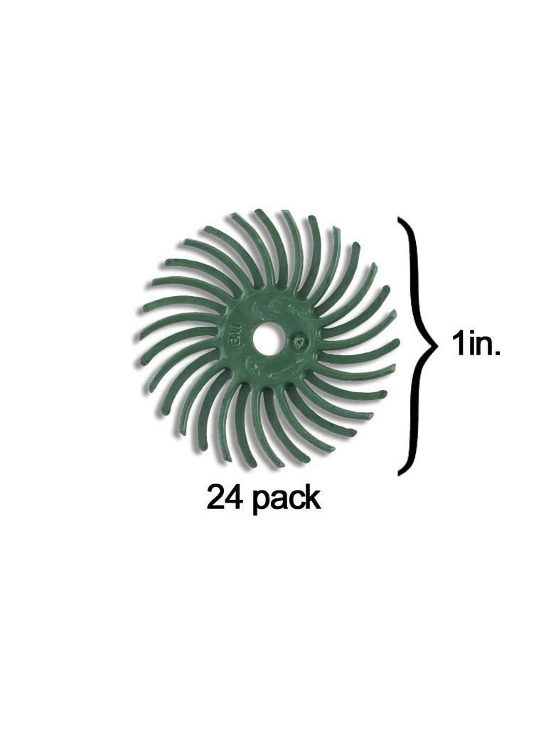 3M 3M Radial Bristle Disc 1'' Green 50Grit (24 Pack)
