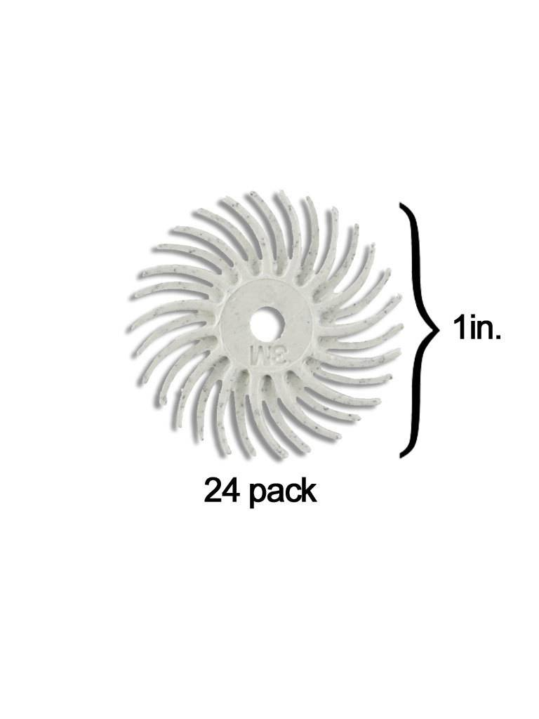 3M 3M Radial Bristle Disc 1'' White 120Grit (24 Pack)