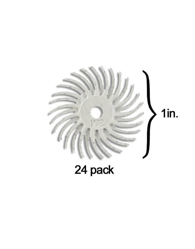 3M 3M Radial Bristle Disc 1'' White 120Grit (24 Pack)