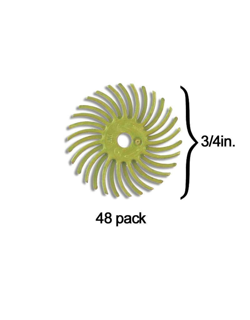 3M 3M Radial Bristle Disc 3/4'' Yellow 80Grit (48 Pack)