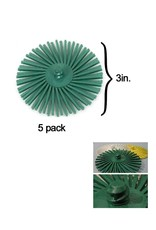 3M 3M ROLOC Radial Bristle Disc 3'' Green 50Grit (5 Pack)