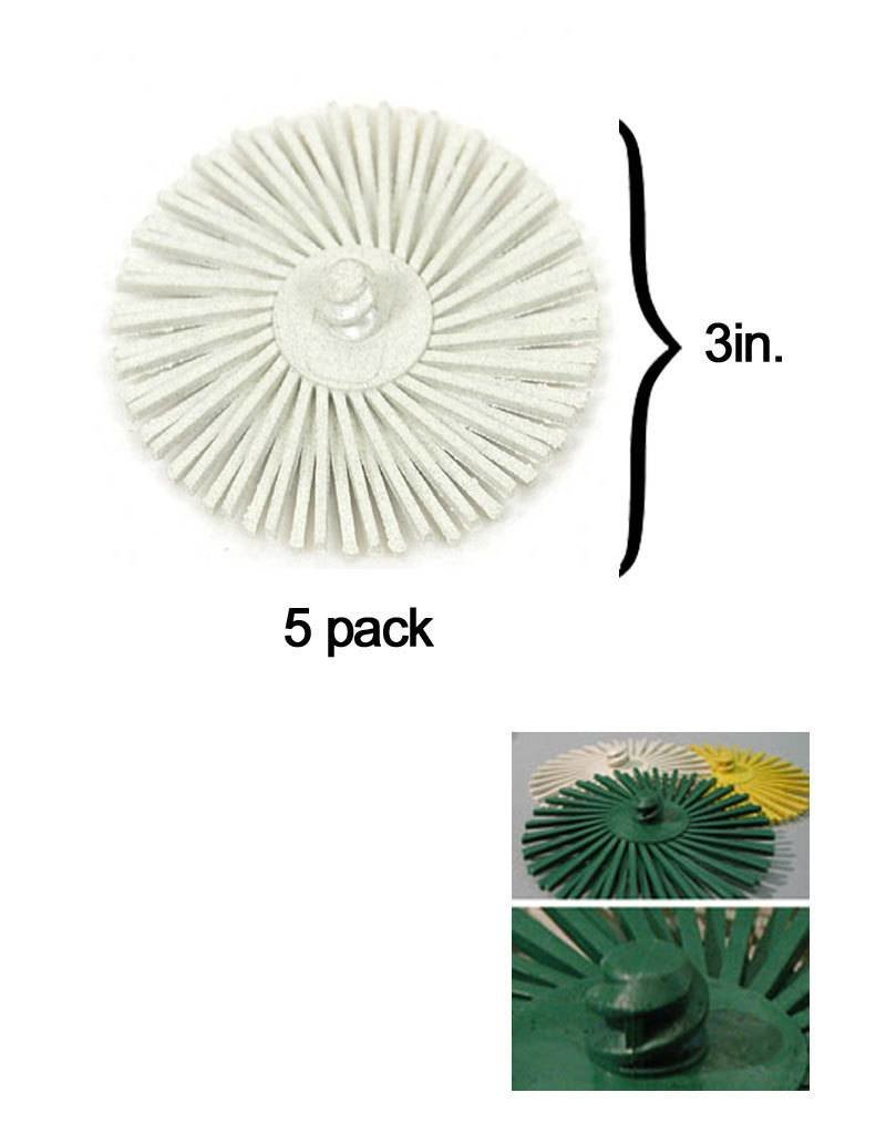 3M 3M ROLOC Radial Bristle Disc 3'' White 120Grit (5 Pack)