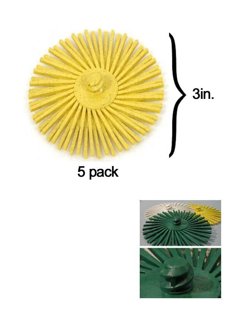 3M 3M ROLOC Radial Bristle Disc 3'' Yellow 80Grit (5 Pack)