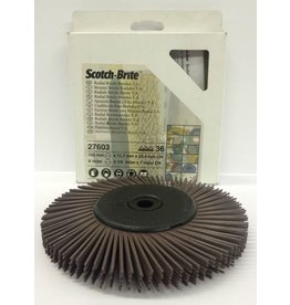 3M 3M Bristle Disc 6'' for the Bench Grinder Brown 36 Grit