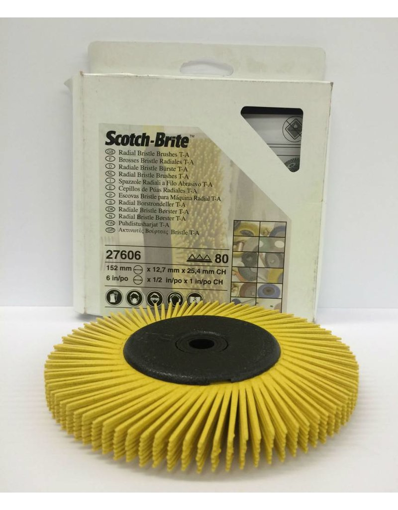 3M 3M Bristle Disc 6'' for the Bench Grinder Yellow 80 Grit
