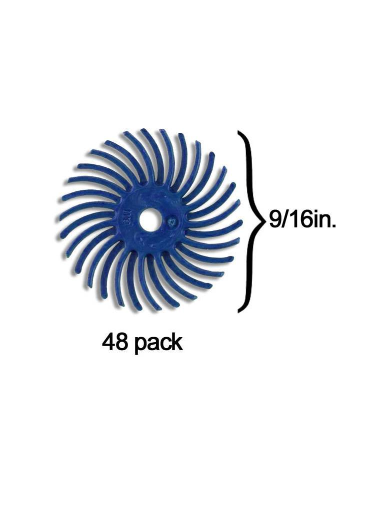 3M 3M Radial Bristle Disc 9/16'' Blue 400Grit (48 Pack)