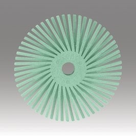 3M 3M Radial Bristle Disc 9/16'' Light Green 1 Micron Polish II (48 Pack)