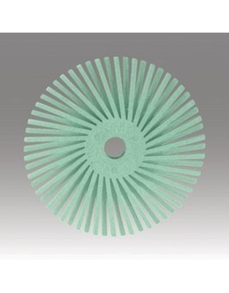 3M 3M Radial Bristle Disc 9/16'' Light Green 1 Micron Polish II (48 Pack)